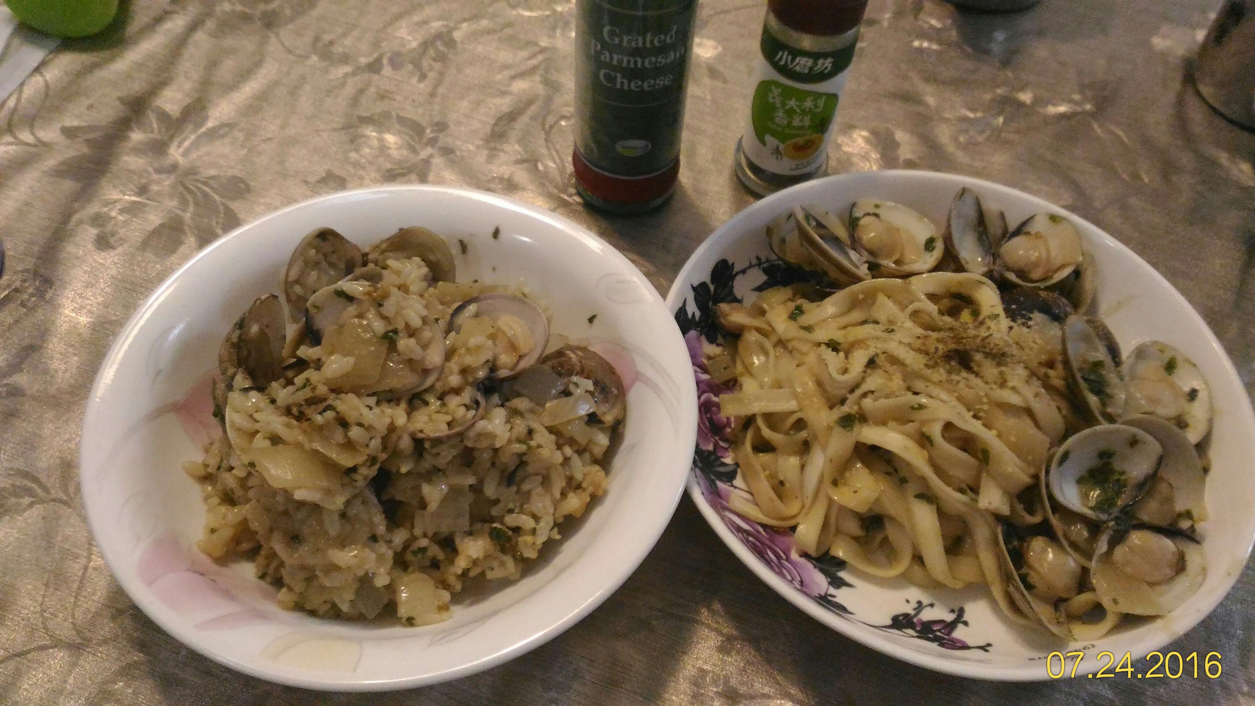 青醬蛤蜊燉飯/家常麵