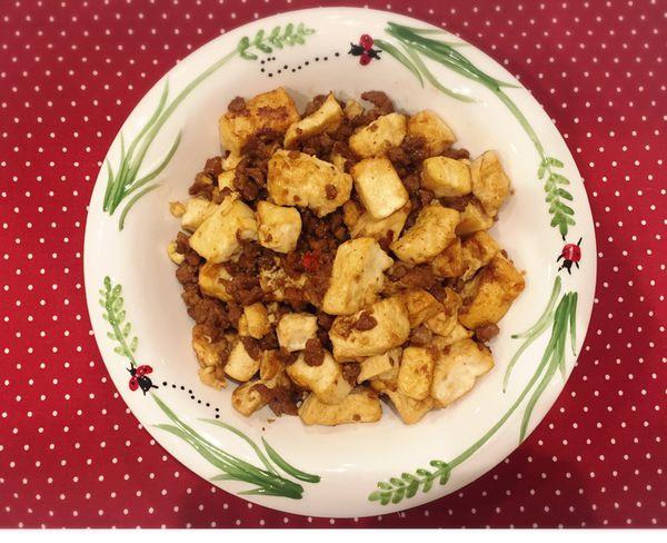 老少咸宜-豆腐燒肉丁