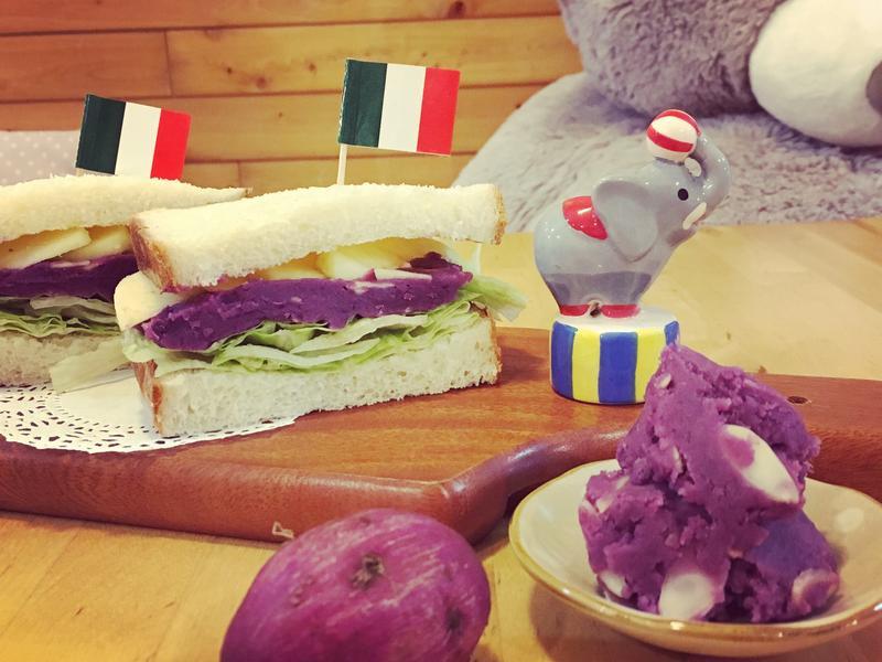 【早安麵包機の練習曲】野餐養生地瓜三明治