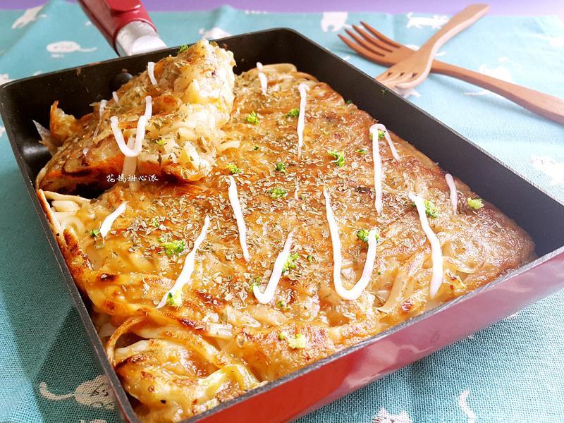 蔬食版日式麵煎燒