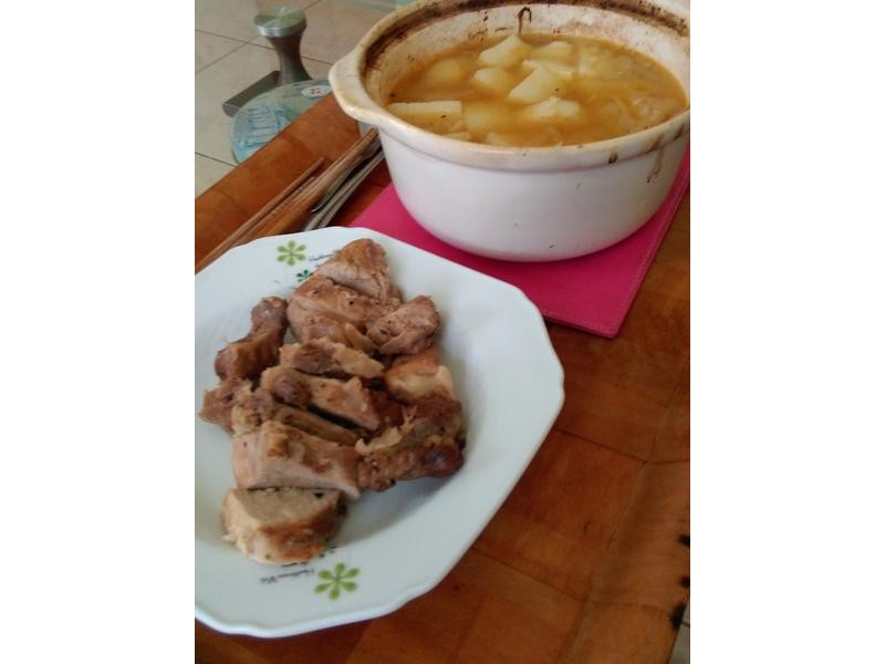 一鍋兩吃 燉烤豬肉&洋蔥湯