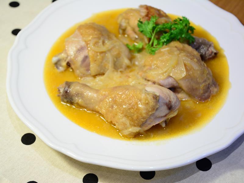 奶油醬汁燉雞腿