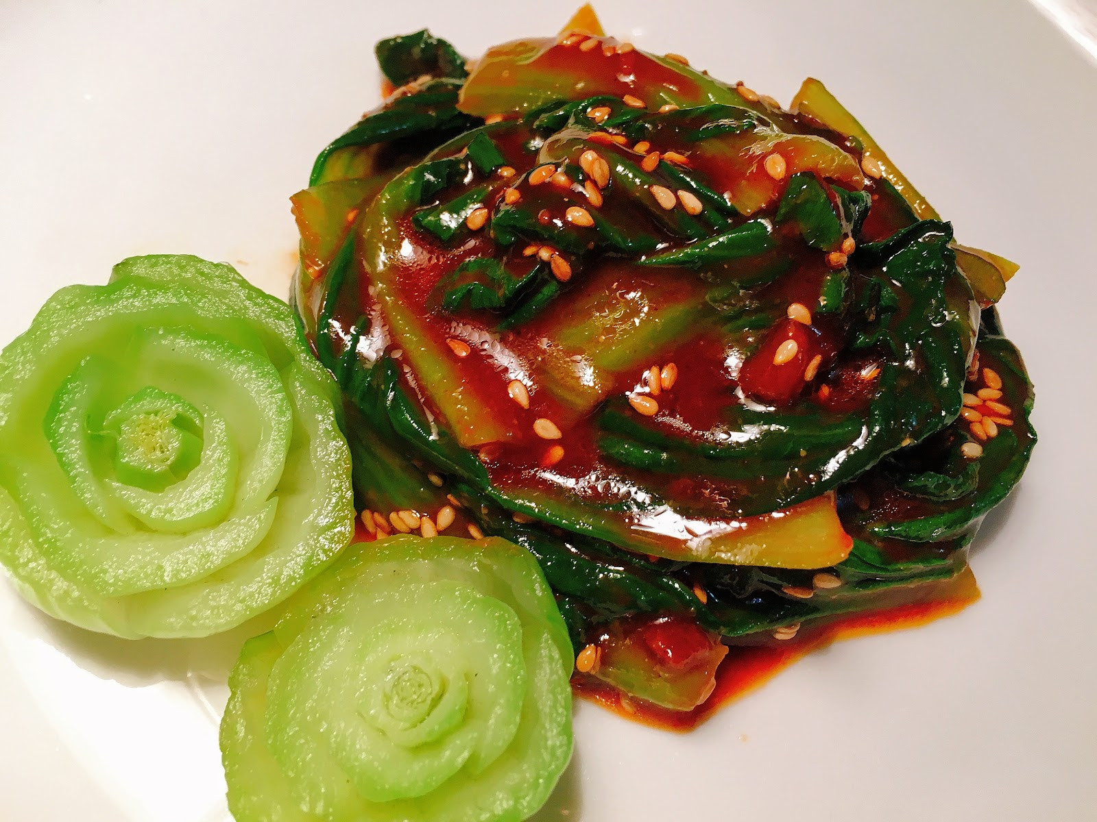 夏日涼拌小菜! 韓式辣拌青江菜