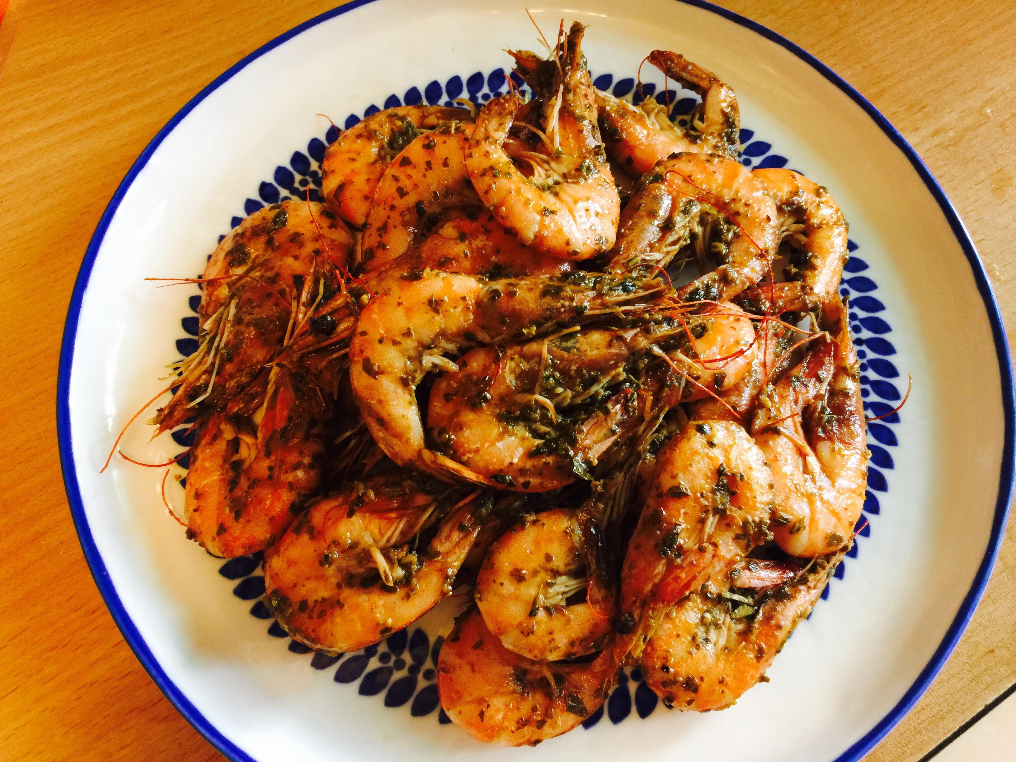超好吃懶人料理:青醬鮮蝦