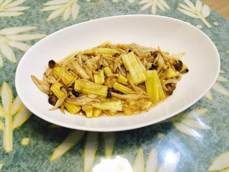 醬燒玉米筍燴雙菇