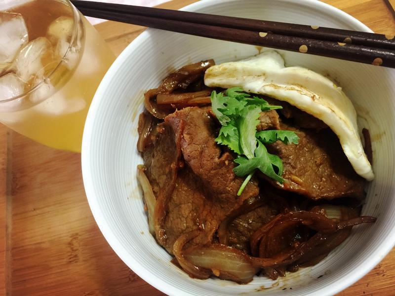 單人食堂-薑燒牛肉蓋飯
