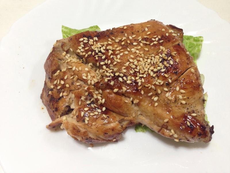 黑胡椒雞胸肉佐白芝麻