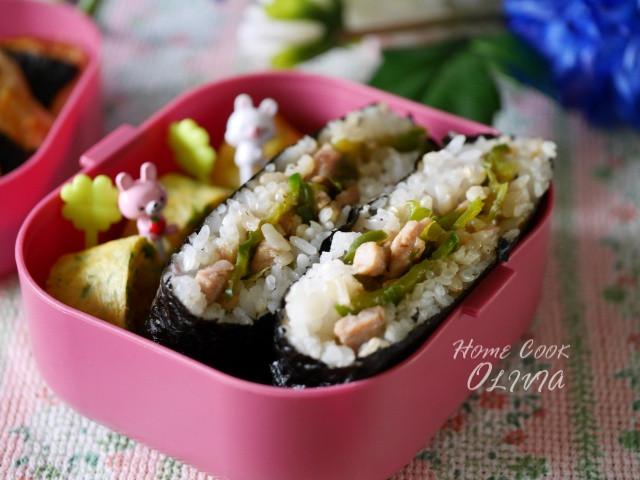 Olivia♥青椒肉絲包飯糰