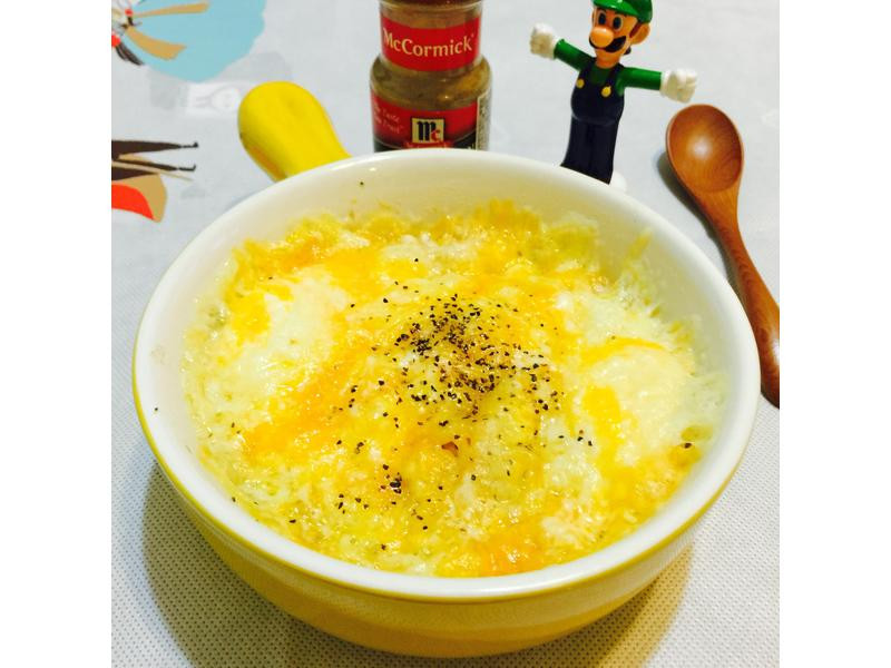 焗烤蛋拉麵(免開火)-五木拉麵