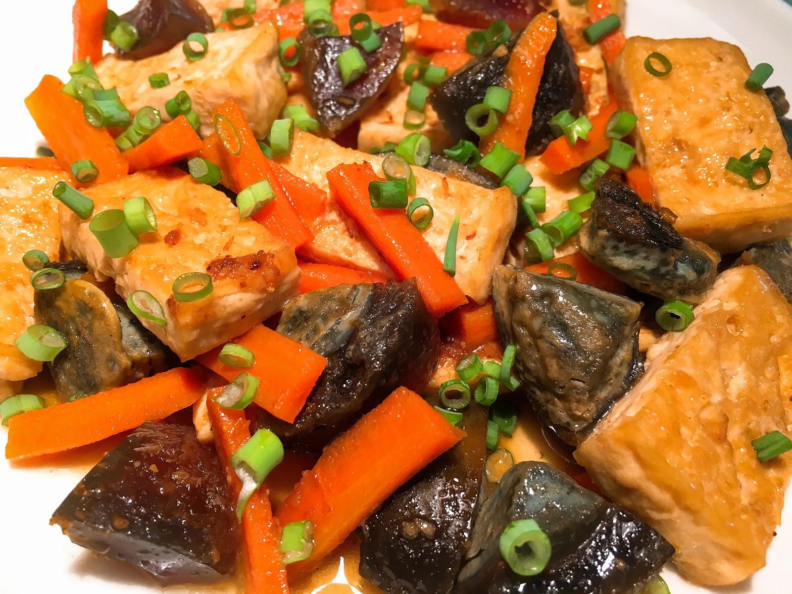 下飯菜!沙茶皮蛋燒豆腐