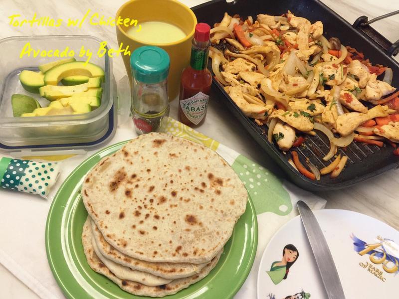 墨西哥餅佐酪梨雞肉 - 夏日早午餐