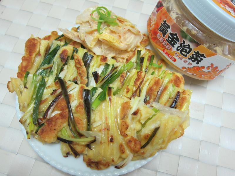 泡菜蔥煎餅【益康黃金泡菜】