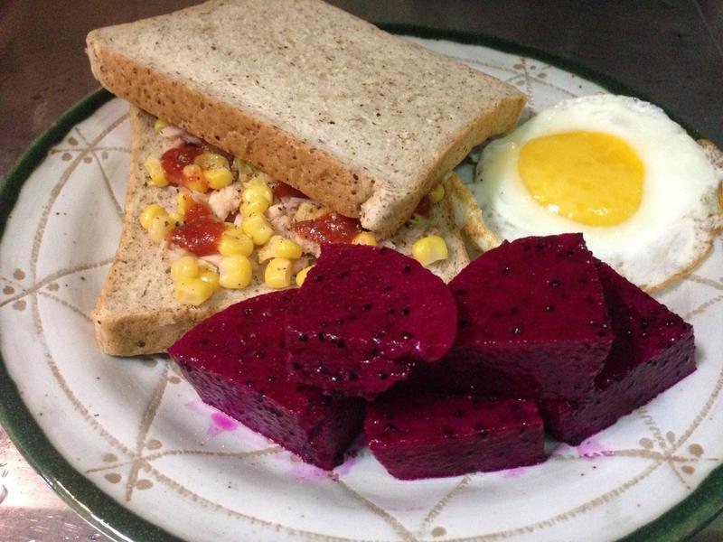 (輕食)小麥胚芽土司佐太陽蛋
