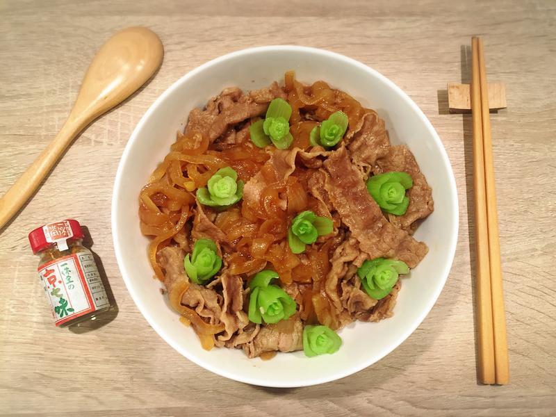 玫瑰花牛丼飯(簡單美味)