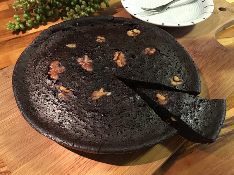 [電鍋版]核桃布朗尼蛋糕(減糖)