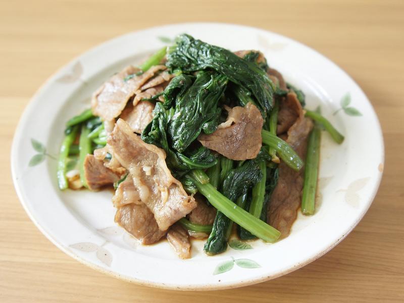 醬燒牛肉炒菠菜