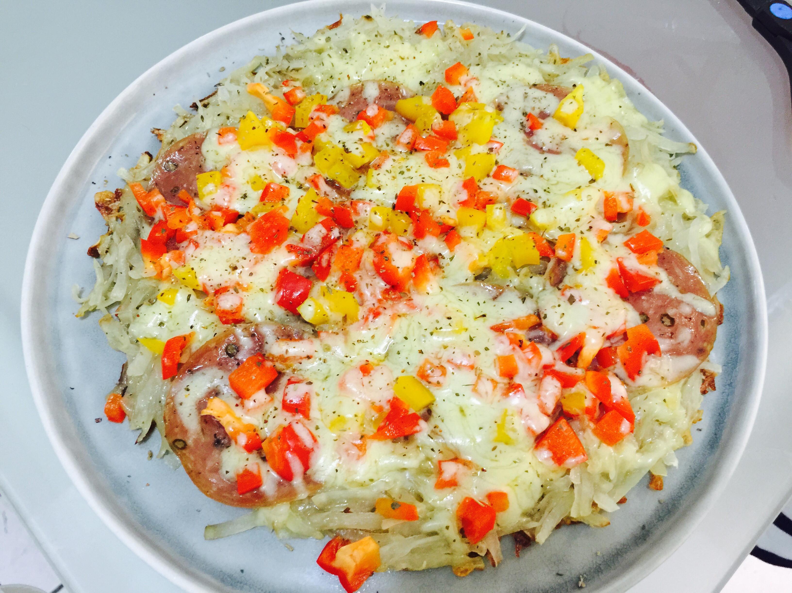 懶人料理:彩椒沙拉米馬鈴薯Pizza