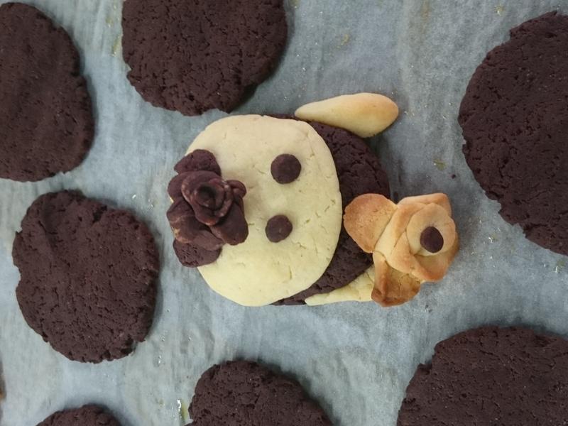可可奶酥造型小餅乾