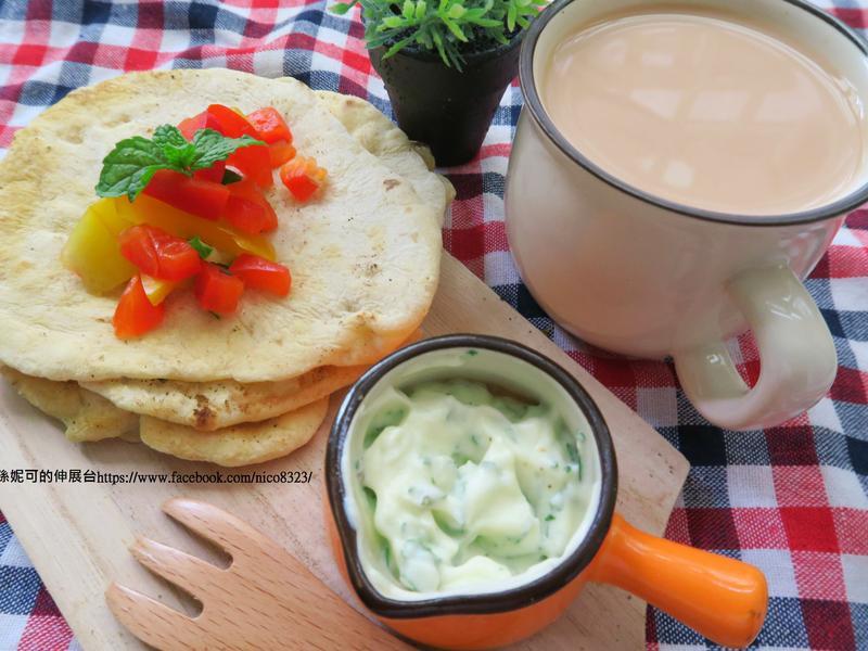 印度烤餅+鮮奶拉茶