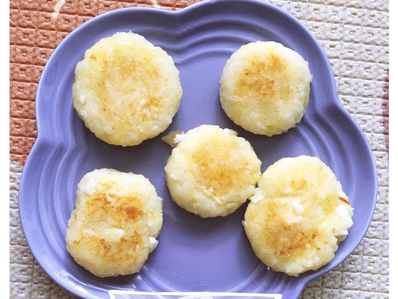 寶寶副食品-起司馬鈴薯雞蛋飯