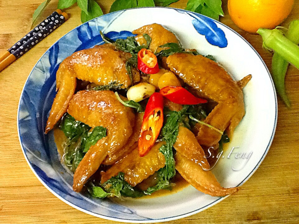 醬燒塔香雞翅