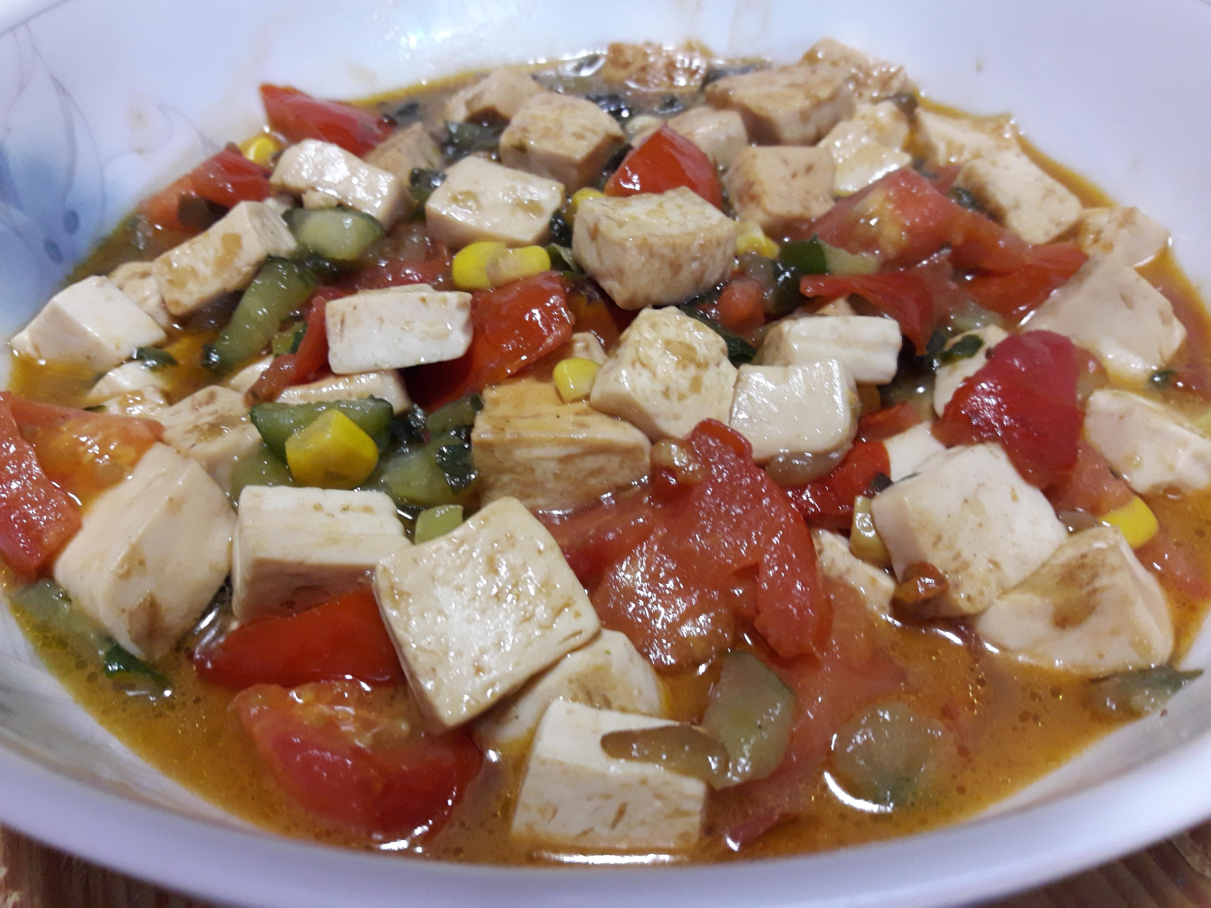 三色醬燒香豆腐~~^-^ (素食)