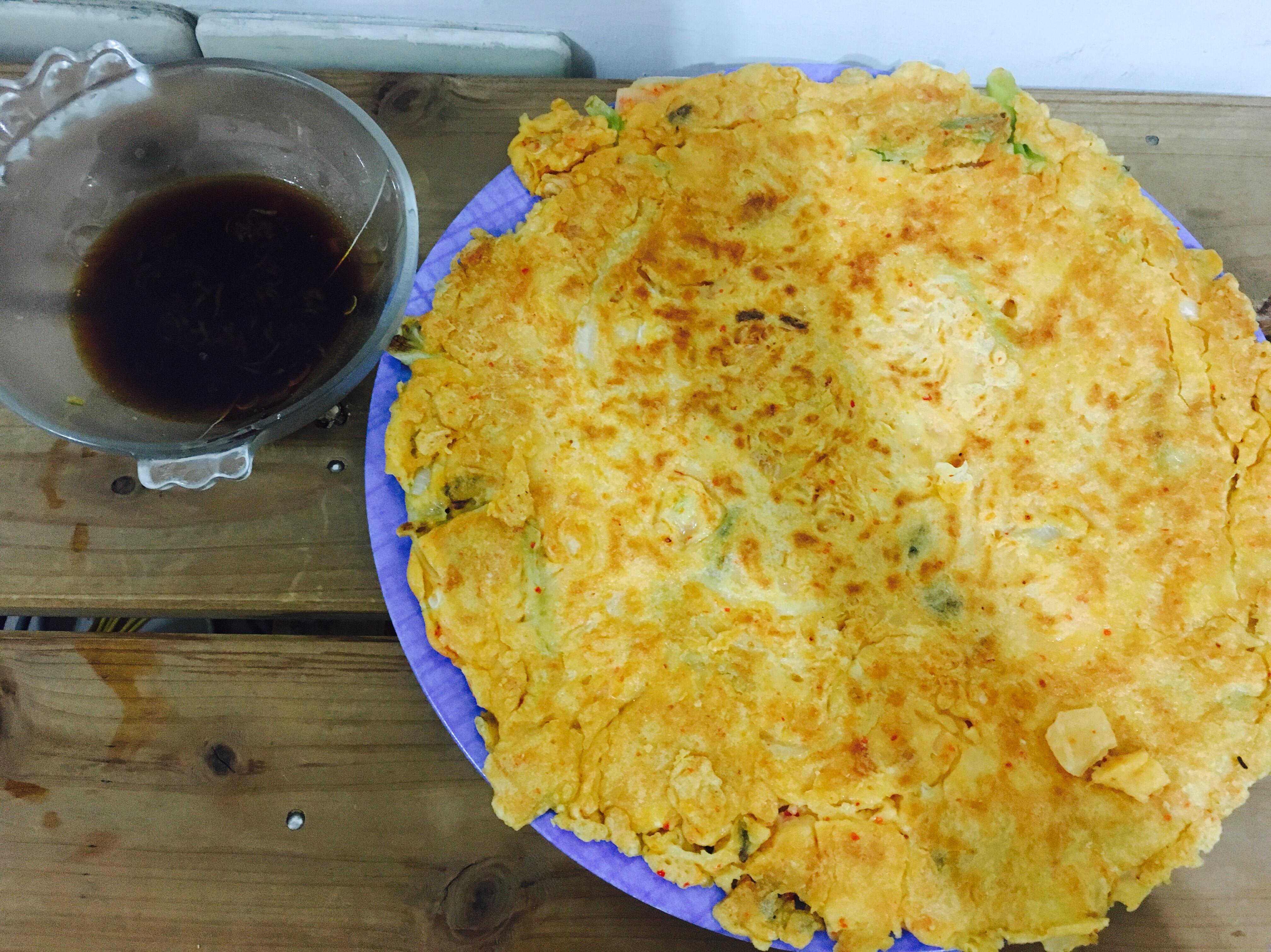 韓式泡菜煎餅&醋醬油