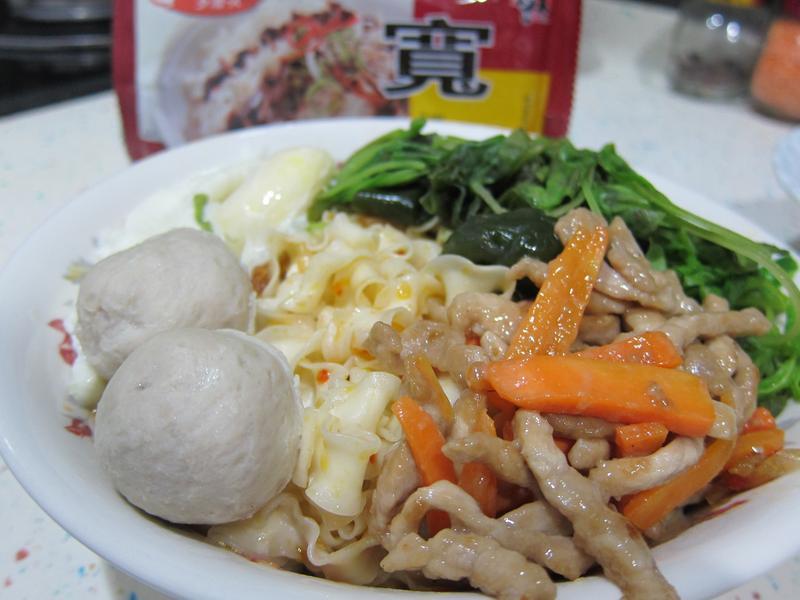 干貝醬乾麵-五木拉麵