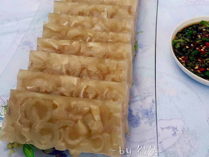 夏日涼菜~水晶豬皮凍