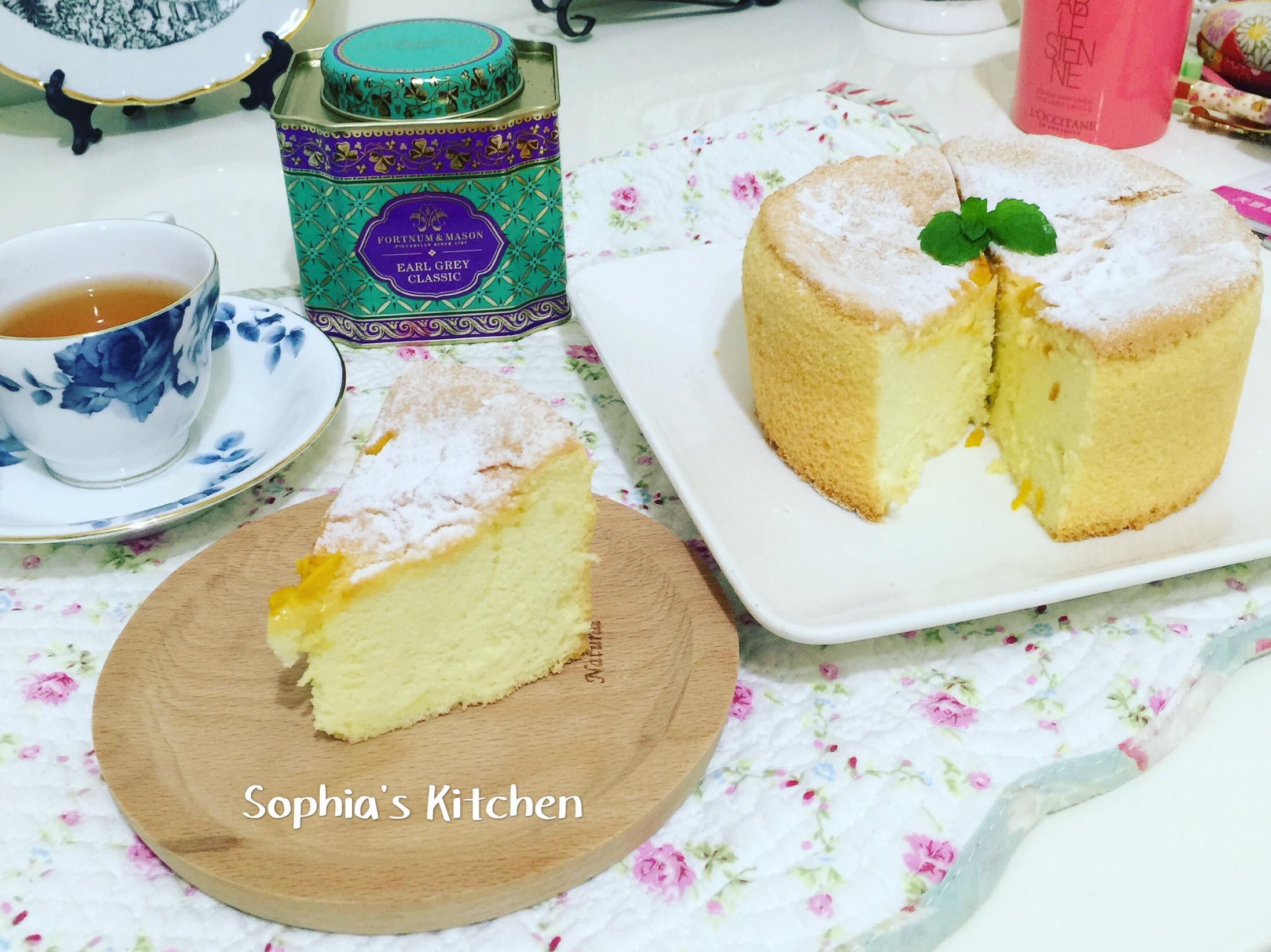 橙香戚風蛋糕