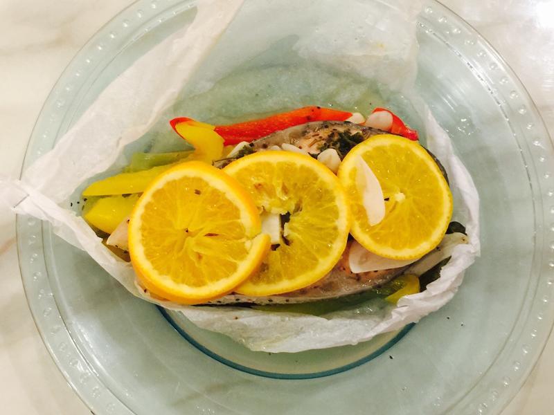 法式奶油香草橙香紙包魚-電鍋料理