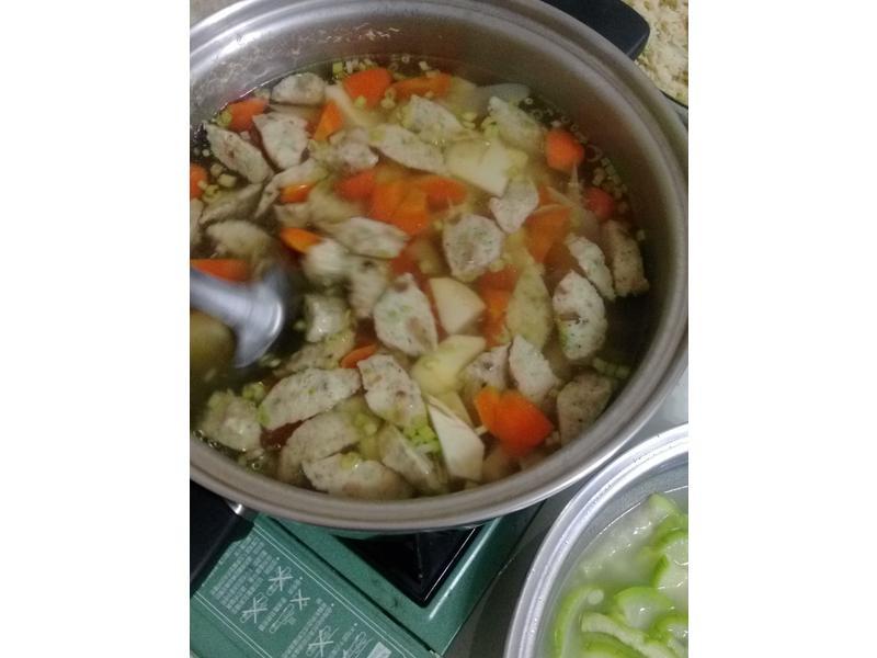 竹荀素丸子湯