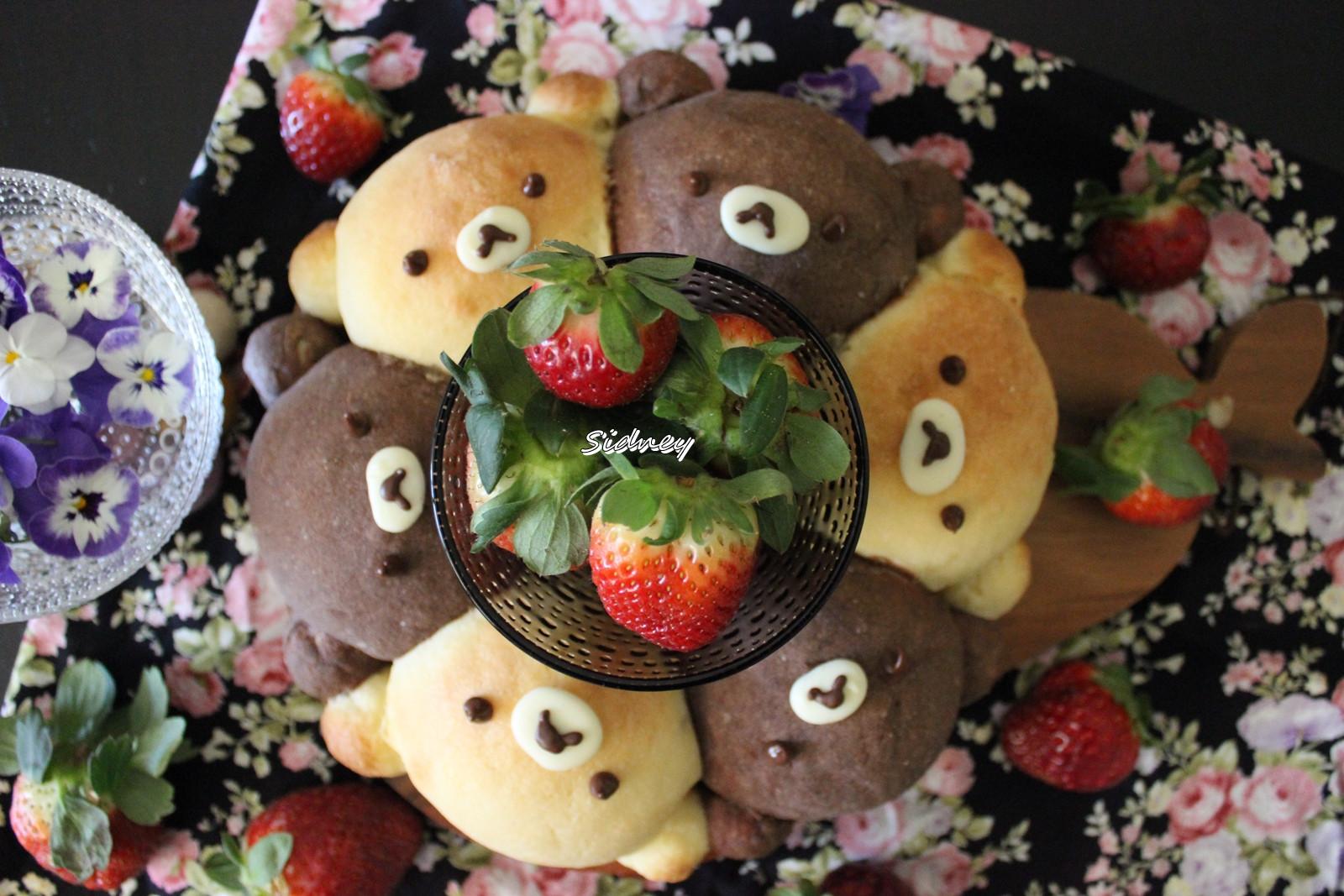 小熊花環菠蘿麵包