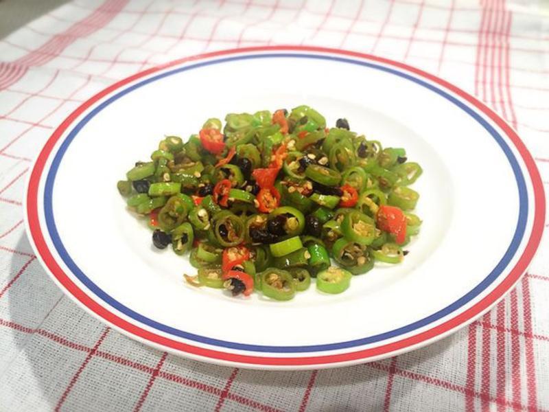 免費小菜-炒豆豉辣椒