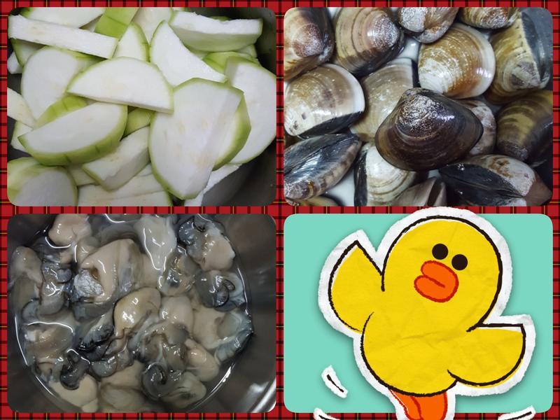 絲瓜蛤蜊蚵仔
