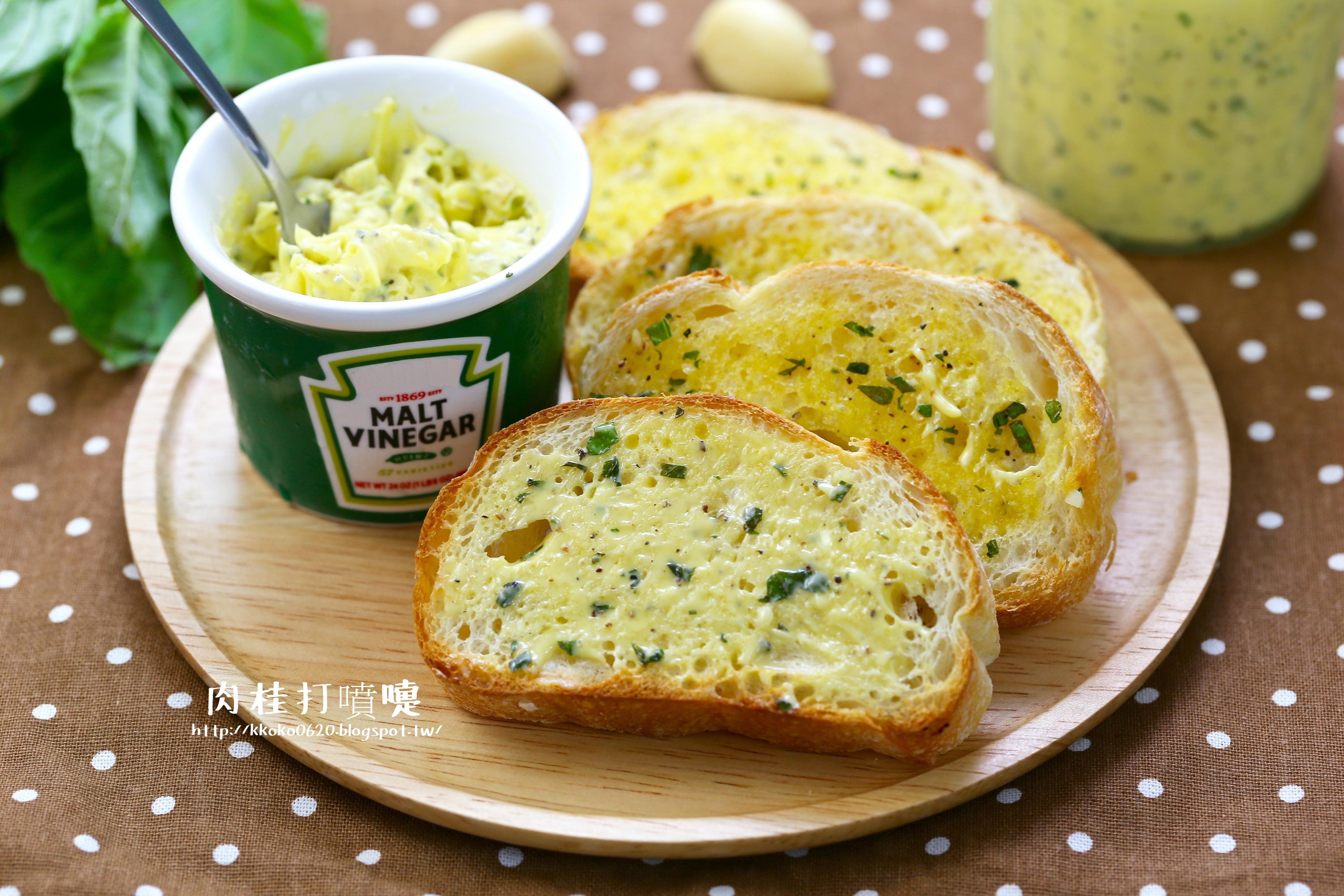 檸檬羅勒香蒜麵包