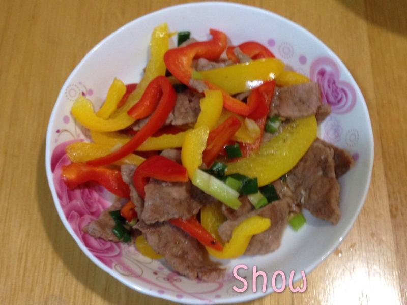 甜椒豬肉排