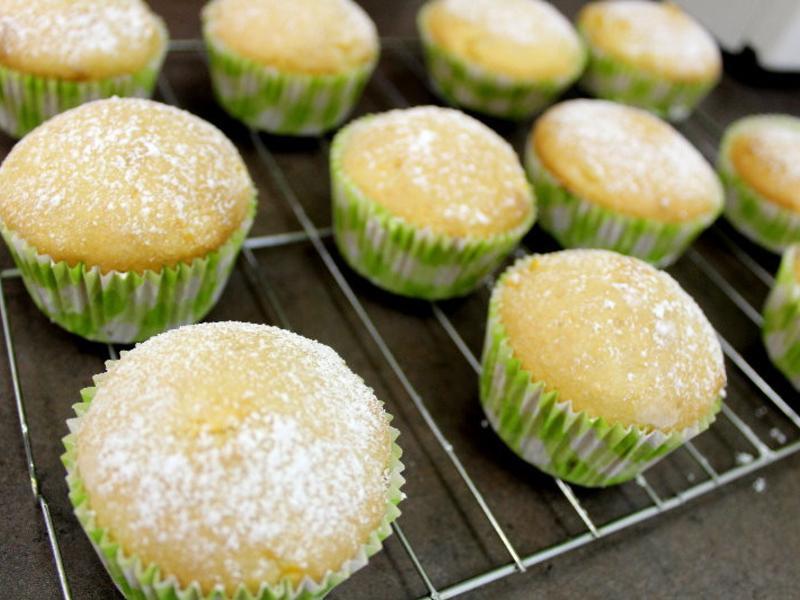 【超簡單】芒果杯子蛋糕
