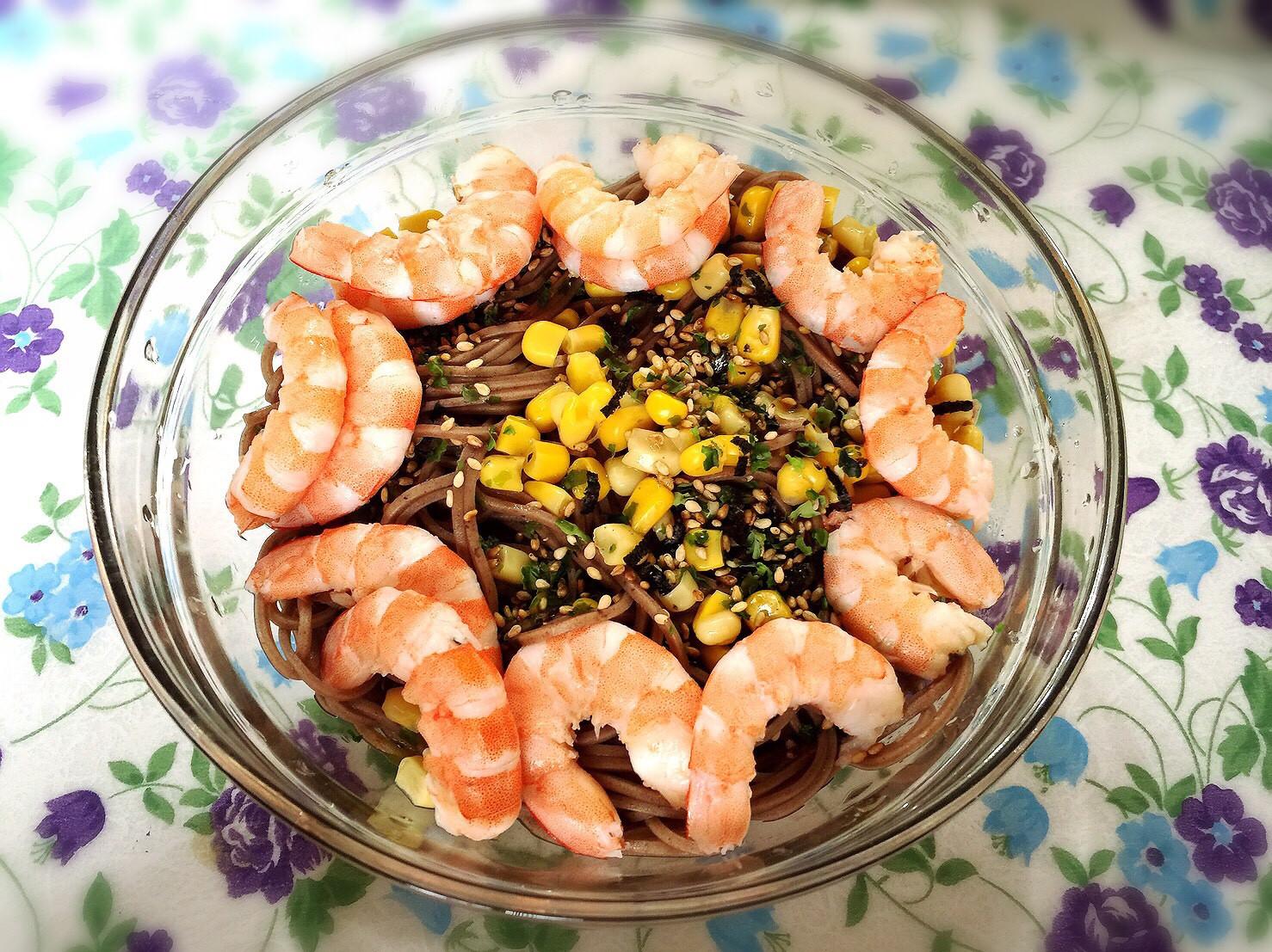 日式鮮蝦蕎麥麵
