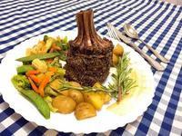 迷迭香香草牛油焗皇冠羊架