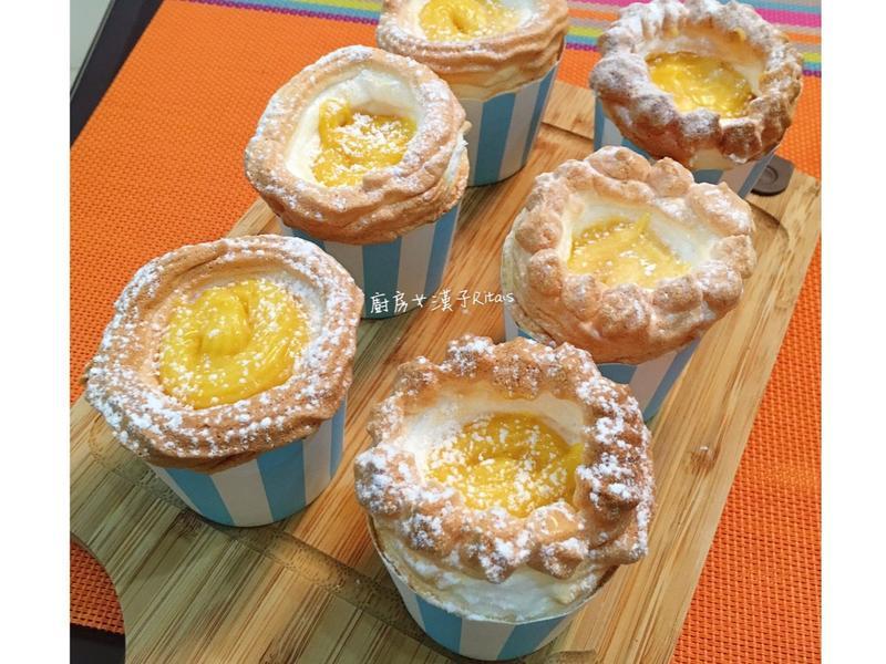 蛋白霜卡士達杯子蛋糕