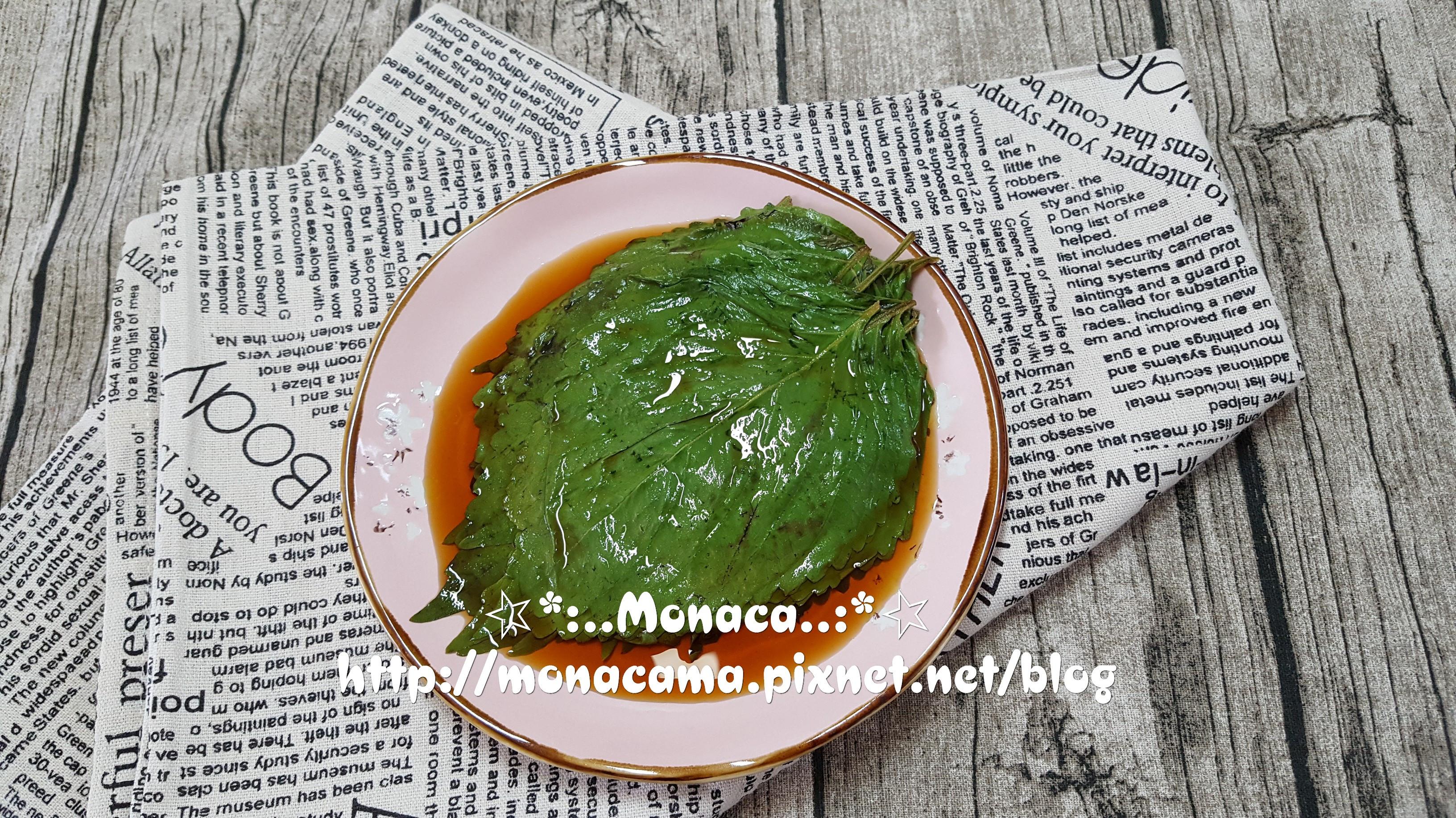 韓式醃芝麻葉깻잎장아찌