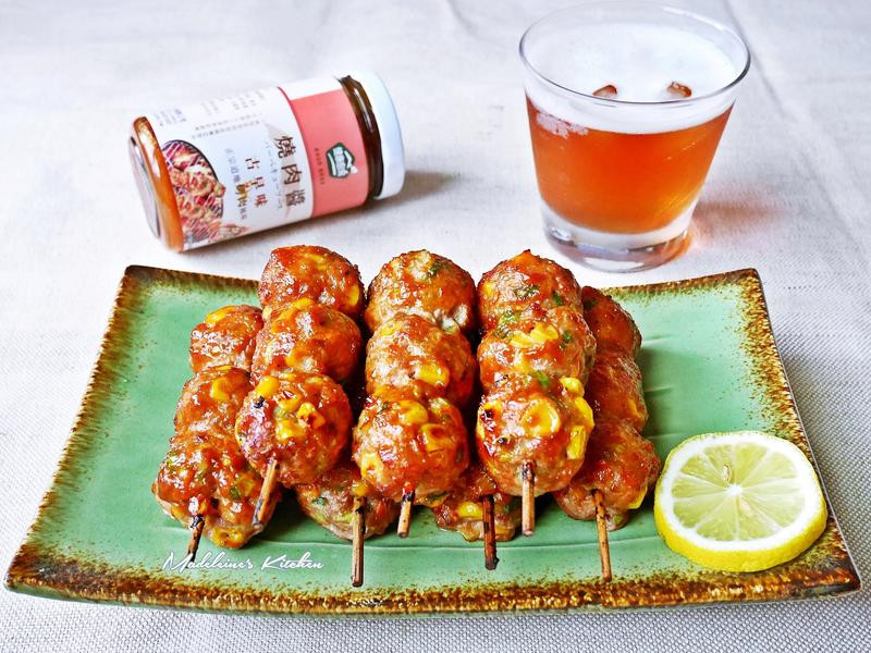 彩蔬肉丸子串燒