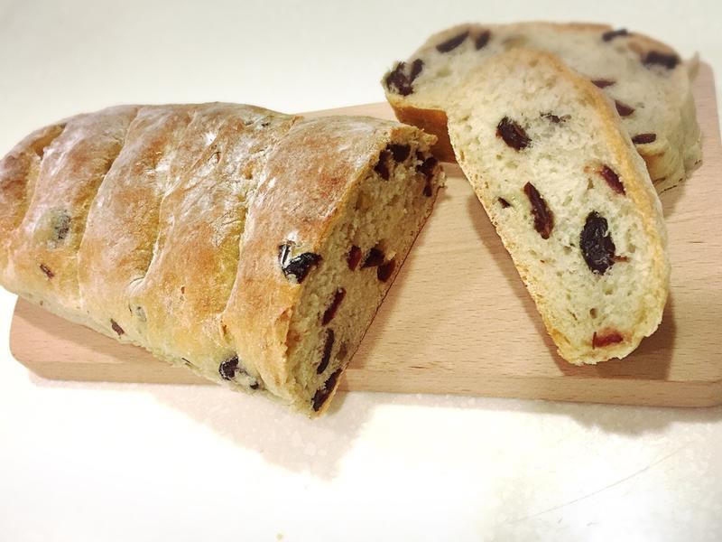 蔓越莓堅果法式麵包(免揉快速發酵)