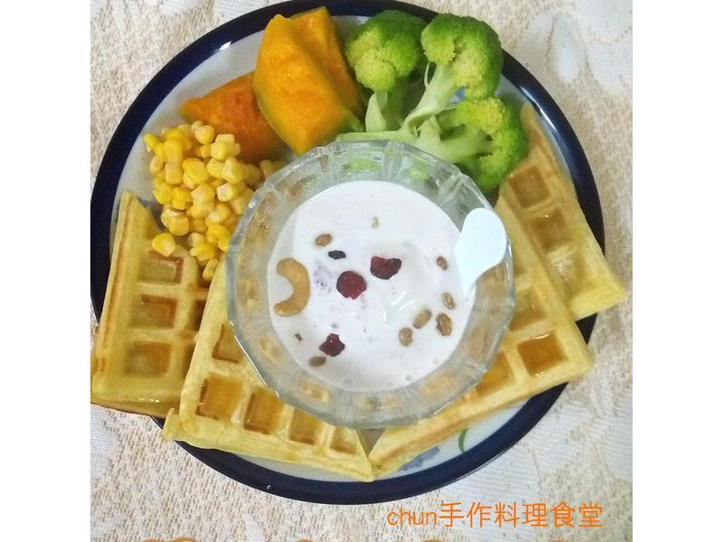 冰淇淋蔬菜鹹和風鬆餅-健康廚房
