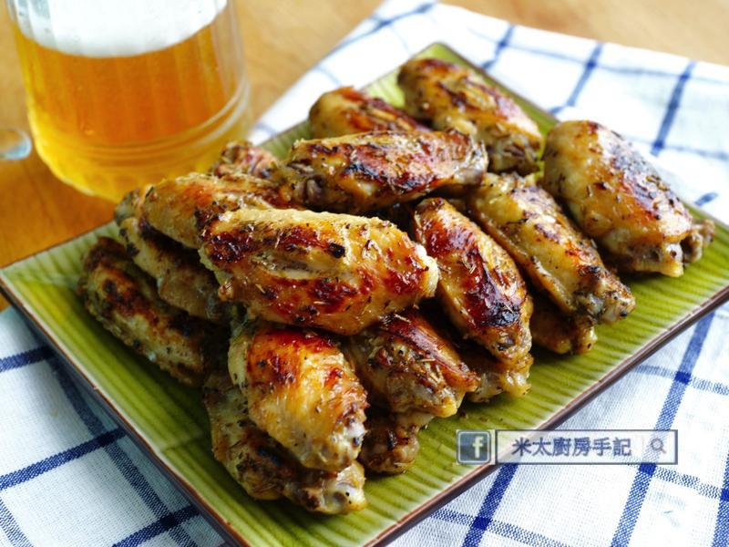 香草蜂蜜芥末烤雞翅