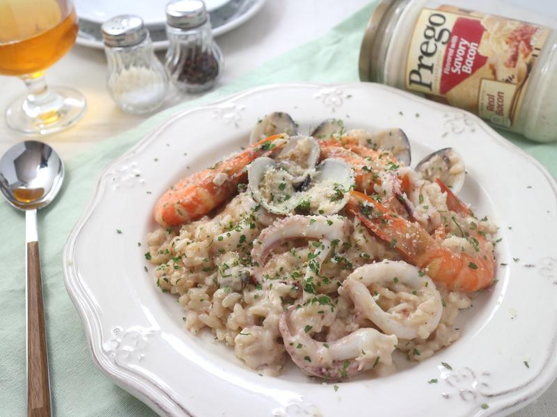 法式白醬海鮮燉飯【Prego】