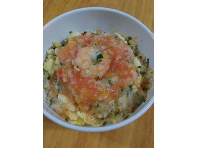 寶寶副食-蕃茄鮮蝦時蔬燴飯
