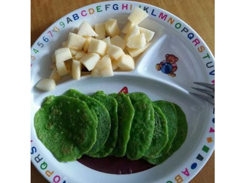 寶寶副食-菠菜煎餅