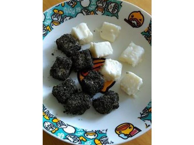 寶寶副食-牛奶雪花糕&芝麻雪花糕
